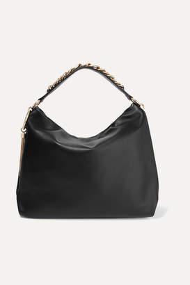 Jimmy Choo Callie Large Leather Shoulder Bag - Black
