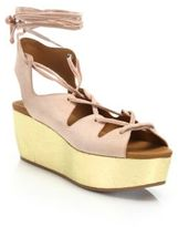 See by Chloe Liana Suede Lace-Up Platform Wedge Sandals