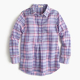 J.Crew Girls' pastel plaid shirt