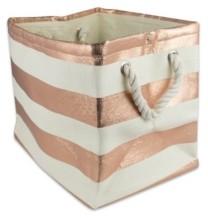 Design Imports Paper Bin Stripe Rectangle Small