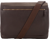 John Lewis Oxford Leather Messenger Bag, Brown