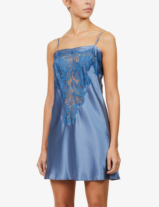 Nk Imode Dovima silk-satin and lace chemise