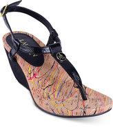 Lauren Ralph Lauren Reeta T-Strap Thong Wedge Sandals