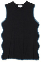 Opening Ceremony Scalloped Cotton Tank Top
