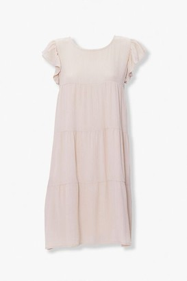 Forever 21 Tiered Ruffle-Sleeve Dress