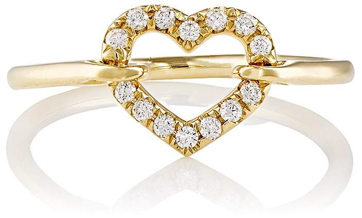Finn Women's White-Diamond Open Heart Ring