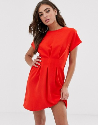 ASOS DESIGN nipped in waist mini dress
