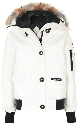 Canada Goose Chilliwack White Fur-trimmed Arctic-Tech Jacket