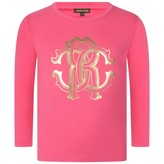 Roberto Cavalli Roberto CavalliGirls Pink Logo Print Top