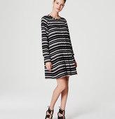 LOFT Stripe Pintucked Dress