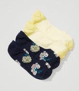 LOFT Floral & Stripe No Show Sock Set