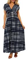 24/7 Comfort Apparel Crosscut Maxi Dress