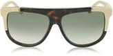 Balenciaga BA0025 Acetate Shield Women's Sunglasses w/Rubber Details