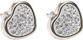 Folli Follie Bling Chic sterling silver heart earrings