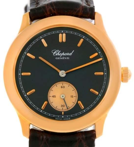 Chopard Classique 16/1168 18K Rose Gold & Leather Manual 33mm Unisex Watch