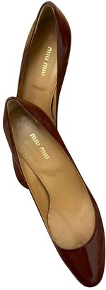 Miu Miu Burgundy Patent leather Heels