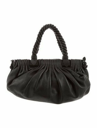 Bottega Veneta Flower Shoulder Bag Black