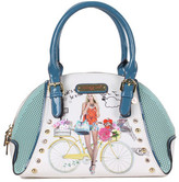 Nicole Lee Women's Spring Ride Print Mini Bowler Bag