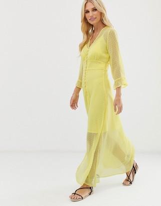 Y.A.S texture button through maxi dress