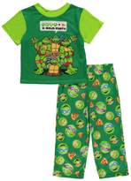 "Teenage Mutant Ninja Turtles TMNT Little Boys' Toddler ""Ninja Party"" 2-Piece Pajamas"