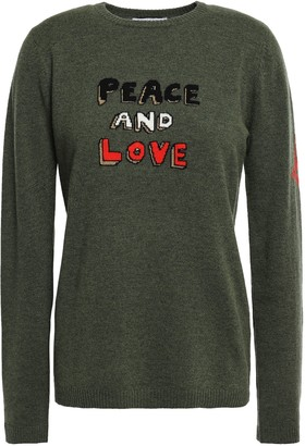 Bella Freud Melange Intarsia Wool-blend Sweater