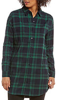 Gibson & Latimer Plaid Button Front Tunic