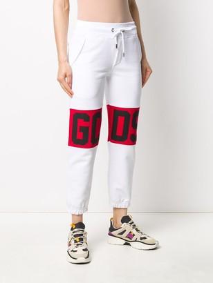 GCDS Logo-Print Track Trousers