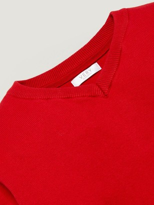 Very Unisex 2 Pack V-Neck School Jumper - Red