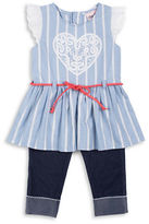 Little Lass Girls 2-6x Two-Piece Top and Capri Pants Set
