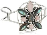 Barse Sterling Silver and Multi-Stone Cuff Bracelet