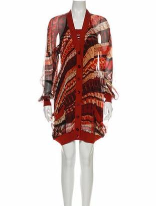 Jean Paul Gaultier Printed Knee-Length Dress Red