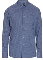 Lanvin Micro-checked Cotton-poplin Shirt