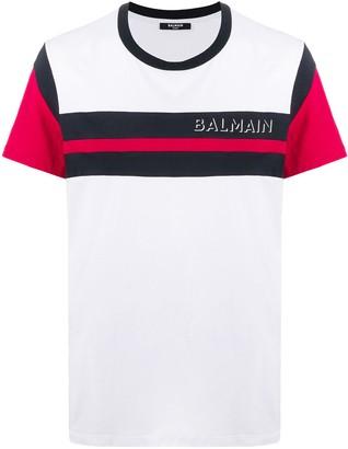 Balmain striped cotton T-shirt