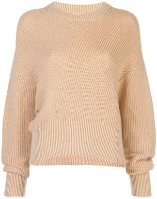 Nicholas diagonal ribbed knit jumper