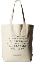 Dogeared Maya Angelou: If You Are Always Trying Big Tote Handbags