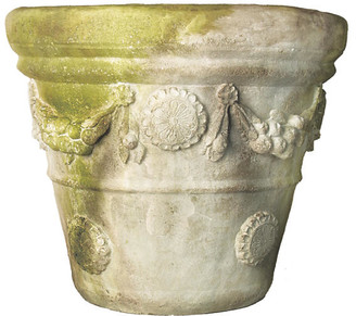 "One Kings Lane 24"" Boboli Garden Planter - White Moss"