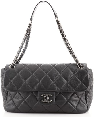 Chanel Coco Casual Flap Bag Quilted Caviar Medium