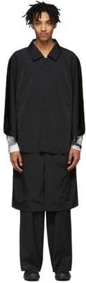 SASQUATCHfabrix. Black Nylon Tombi Coat