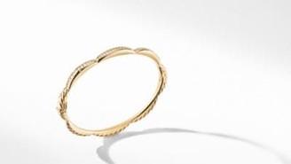 David Yurman Tides Three Station Bracelet In 18K Yellow Gold With
