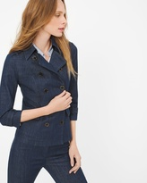 White House Black Market Petite Tailored Denim Jacket