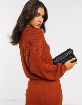 ASOS DESIGN co-ord jumper in natural look yarn