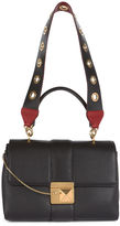 Sonia Rykiel Black Leather Triple Shoulder Bag