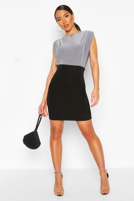boohoo Slinky Keyhole Front Mini Dress
