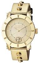 Versus By Versace Women's Madison Quartz Stainless Steel and Leather Casual Watch, Color:Gold-Toned (Model: S31050016)