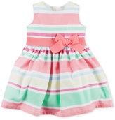 Carter's Striped Sateen Dress, Baby Girls (0-24 months)