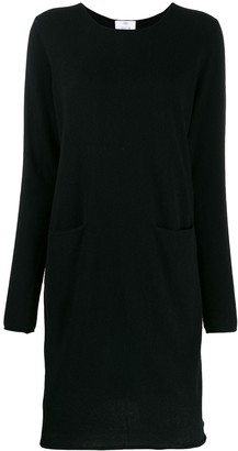 Allude rolled hem knitted dress