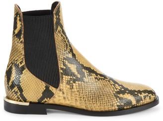 Jimmy Choo Rourke Snakeskin-Embossed Leather Chelsea Boots
