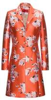 Abstract-floral coat in a technical j