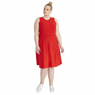 Rachel Roy Women's Plus Size Liliana FIT and Flare Dress