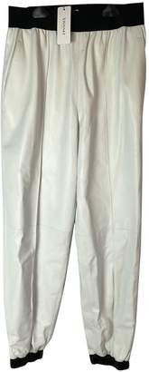 Vionnet Silver Leather Trousers